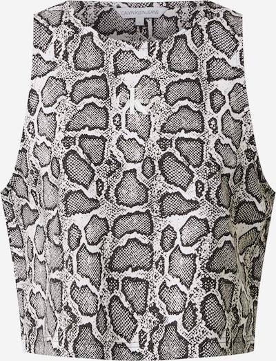 Calvin Klein Jeans Top in hellgrau / schwarz / weiß, Produktansicht