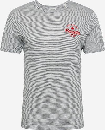 TOM TAILOR Shirt in de kleur Grijs / Vuurrood / Wit, Productweergave