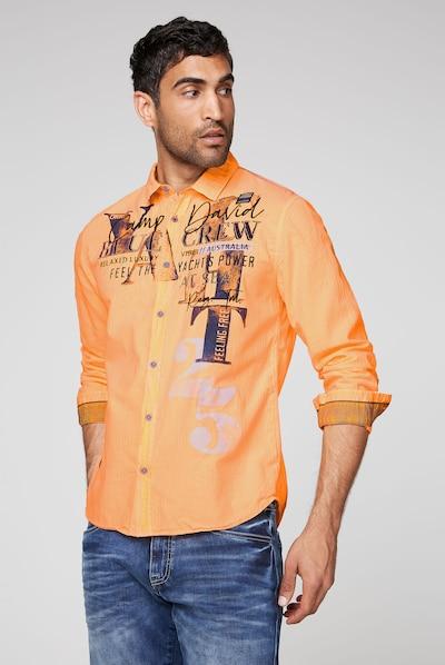 CAMP DAVID Koszula w kolorze ciemny niebieski / pomarańczowy / czarny / białym: Widok z przodu