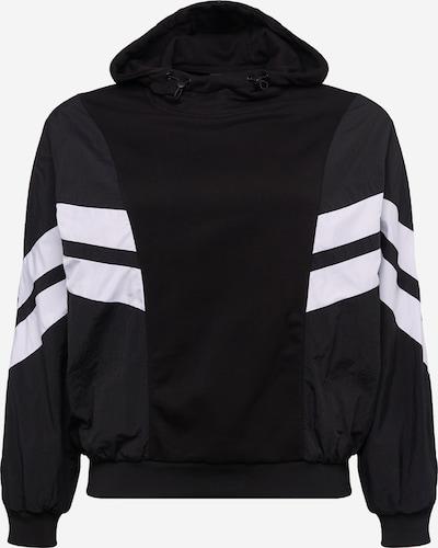 Urban Classics Curvy Sweatshirt in de kleur Zwart / Wit, Productweergave