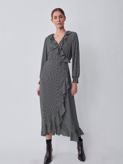 JUST FEMALE Kleid 'Niro' in schwarz / weiß, Modelansicht
