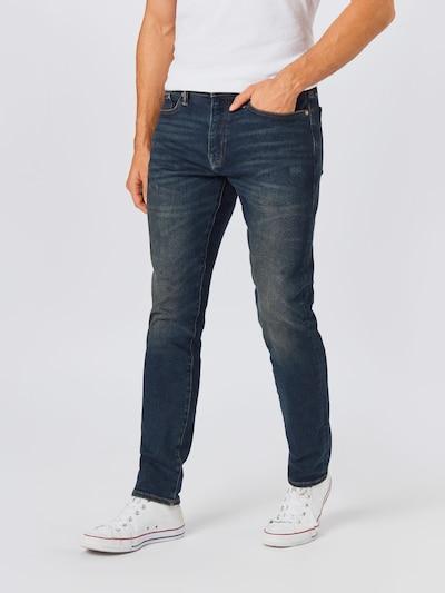 GAP Jeans 'SLIM TAPER HI STR WORN DARK' in de kleur Blauw denim, Modelweergave