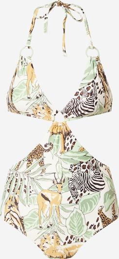 AERIE Badeanzug in braun / grün / weiß, Produktansicht