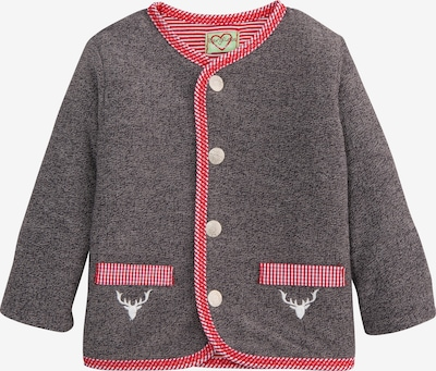 BONDI Jacke in dunkelgrau / rot / weiß, Produktansicht