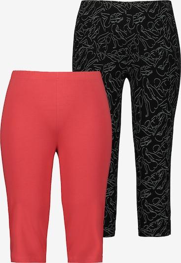 Ulla Popken Pyjamabroek '795457' in de kleur Framboos / Zwart / Wit, Productweergave