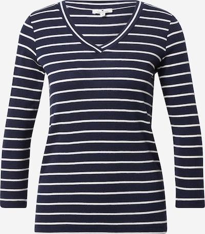 TOM TAILOR Majica u mornarsko plava / bijela, Pregled proizvoda