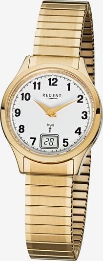 REGENT Damenuhr in gold / weiß, Produktansicht