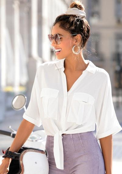 LASCANA Bluse in weiß, Modelansicht