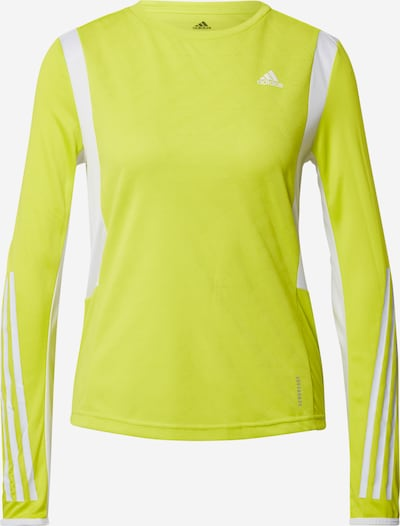 ADIDAS PERFORMANCE Functional shirt in neon yellow / white, Item view
