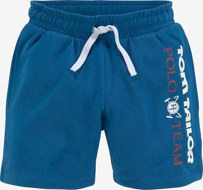 Tom Tailor Polo Team Shorts in blau / dunkelrot / weiß, Produktansicht