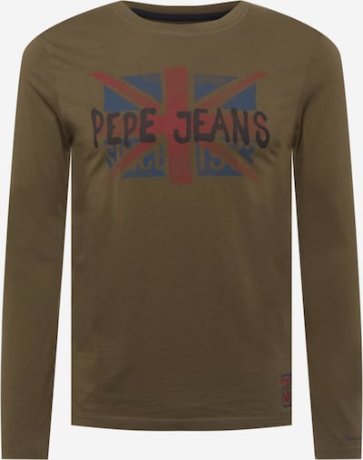 Pepe Jeans Shirt 'ROLAND' in de kleur Blauw / Antraciet / Kaki / Pastelrood, Productweergave