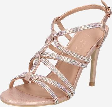 Sandales à lanières NEW LOOK en or