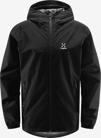 Haglöfs Outdoorjas 'Betula GTX' in de kleur Zwart / Wit, Productweergave