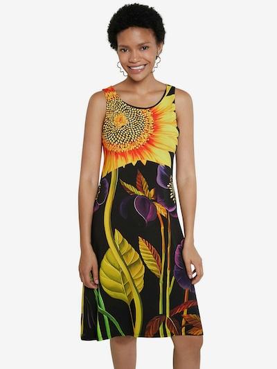 Desigual Robe d'été 'VEST_MARLON' en mélange de couleurs / noir, Vue avec modèle