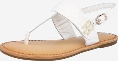 Flip-flops TOMMY HILFIGER pe alb: Privire frontală