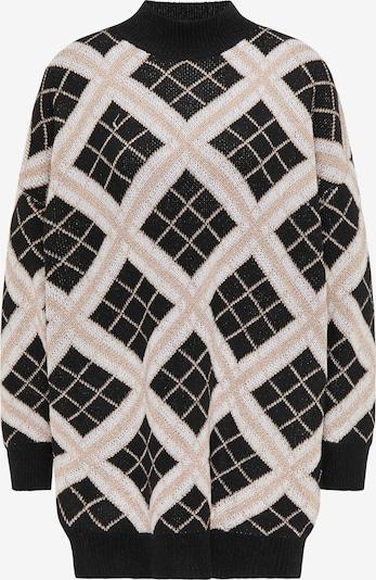 faina Pullover in beige / schwarz, Produktansicht
