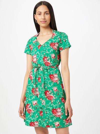 Blutsgeschwister Kleid 'Fairy in the garden' in grün / pink / rot / weiß, Modelansicht