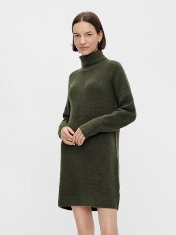 PIECES Gebreide jurk 'Ellen' in Groen