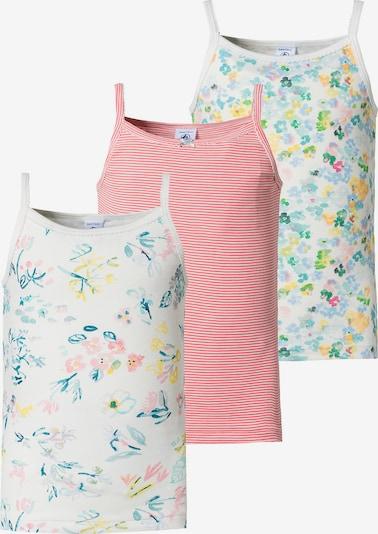 PETIT BATEAU Unterhemd in blau / grün / rosa / weiß, Produktansicht