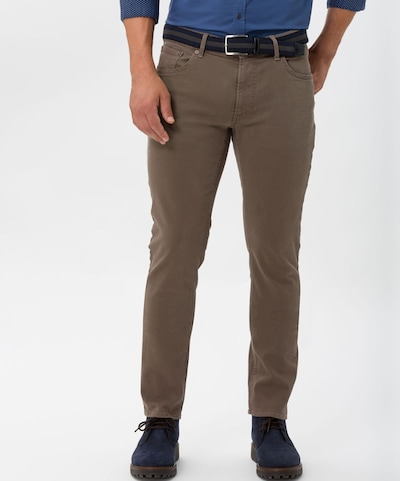 BRAX Jeans 'Chuck' in taupe, Modelansicht