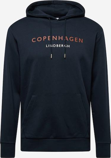 Lindbergh Sweatshirt 'Copenhagen' in navy / orange / weiß, Produktansicht