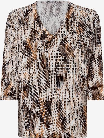 Olsen Pullover in hellbraun / dunkelbraun / weiß, Produktansicht
