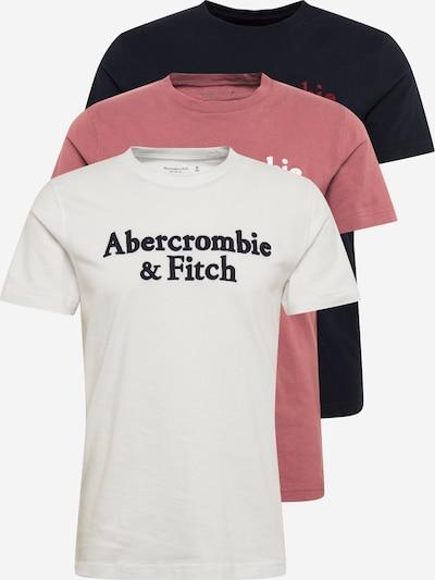 Abercrombie & Fitch Shirt in navy / rubinrot / hellrot / weiß, Produktansicht