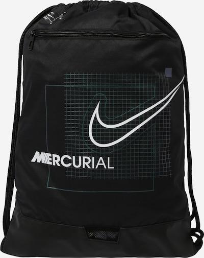 NIKE Sports gym bag in black / white, Item view