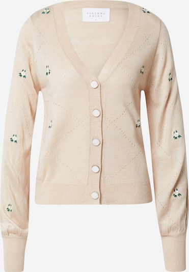 SISTERS POINT Knit cardigan in Beige / Cream / Green / White, Item view
