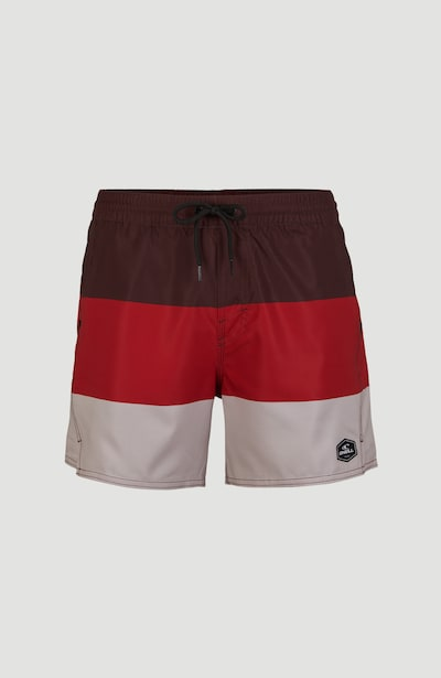 O'NEILL Boardshorts 'Horizon' in de kleur Rood / Bourgogne / Offwhite, Productweergave