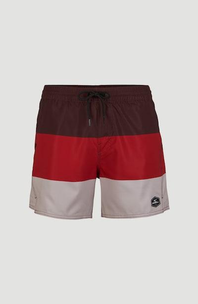 O'NEILL Šortky 'Horizon' - červená / burgundská červeň / offwhite, Produkt