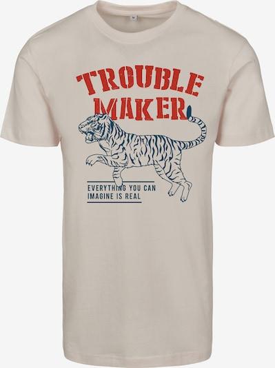 Merchcode Shirt 'Ladies Troublemaker Tee' in de kleur Wit: Vooraanzicht