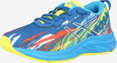 ASICS Chaussure de sport en bleu roi / jaune fluo / orange / blanc, Vue avec produit