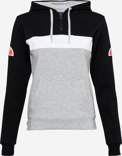 ELLESSE Sweat de sport 'Ingrid' en gris chiné / orange / melon / noir / blanc, Vue avec produit