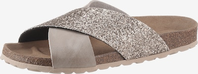 CITY WALK Pantolette in nude / taupe / silber, Produktansicht