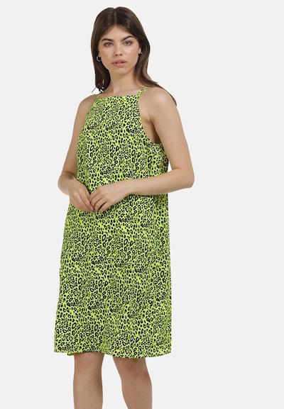 MYMO Sommerkleid in neongrün / schwarz, Modelansicht