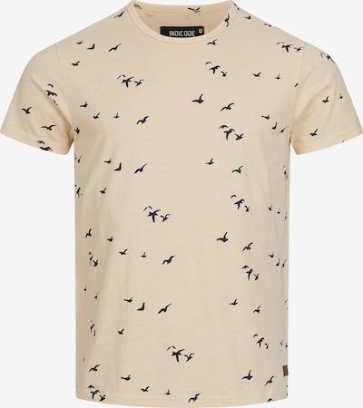INDICODE JEANS Shirt 'McFarland' in de kleur Beige / Navy / Bruin, Productweergave