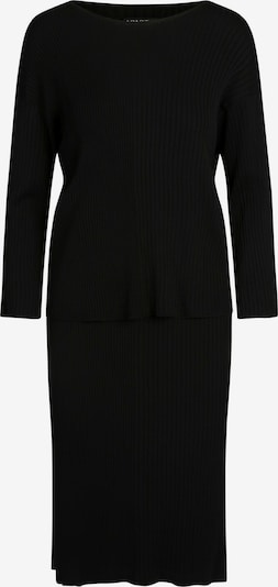 APART Strick-Set als Pullover und Rock in schwarz, Produktansicht