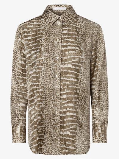 BOSS Casual Bluse in beige / braun / naturweiß, Produktansicht