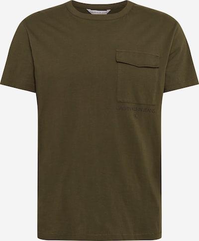 Calvin Klein Jeans Shirt in de kleur Olijfgroen, Productweergave