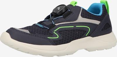 SUPERFIT Sneaker 'Rush' in kobaltblau / royalblau / hellgrau / neongrün, Produktansicht