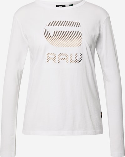 G-Star RAW Shirt in gold / weiß: Frontalansicht