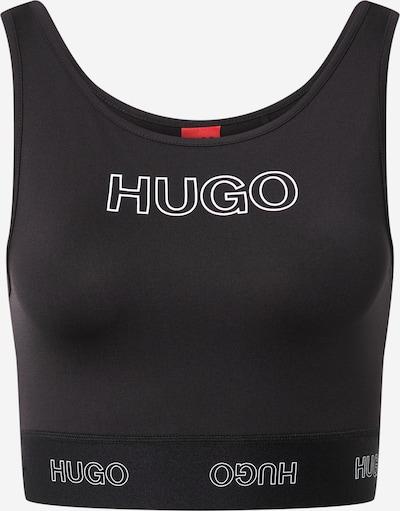 HUGO Top 'Dimsum' w kolorze czarny / białym, Podgląd produktu