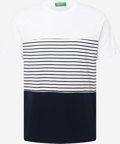 UNITED COLORS OF BENETTON Majica | temno modra / bela barva, Prikaz izdelka