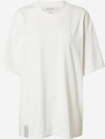 Tricou supradimensional 'Billie' de la Gina Tricot pe alb