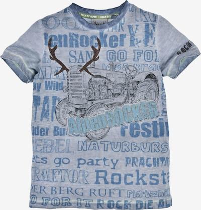 BONDI T-Shirt in rauchblau / opal / taubenblau / braun, Produktansicht