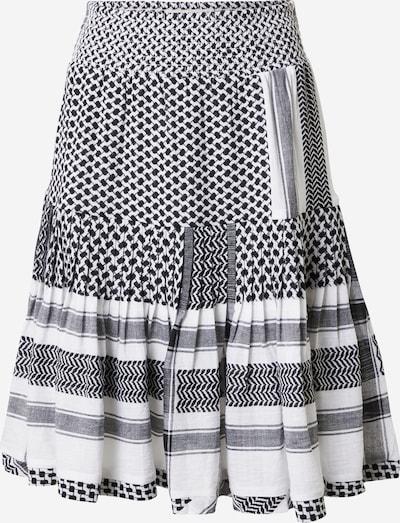 Cecilie Copenhagen Falda 'Aftergold' en negro / blanco, Vista del producto