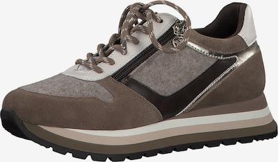 TAMARIS Sneakers in Taupe / mottled grey / Black / Silver, Item view