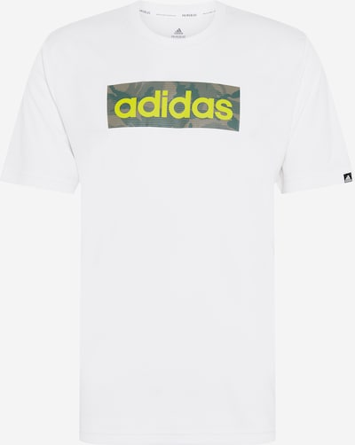 ADIDAS PERFORMANCE Funkčné tričko - sivá / smaragdová / svetlozelená / biela, Produkt