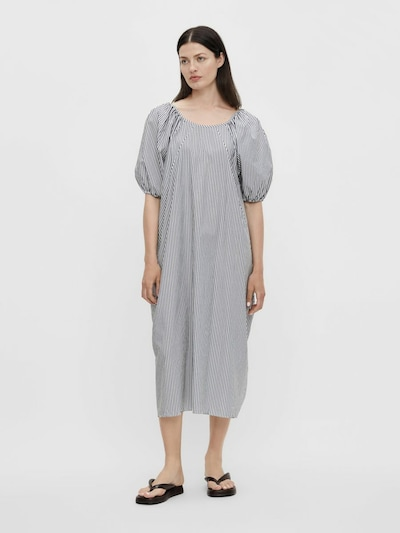 OBJECT Robe en bleu nuit / blanc: Vue de face